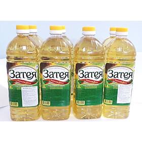 Thùng 4 chai dầu ăn hướng dương Nga tốt cho tim mạch ZATEYA 1.8L