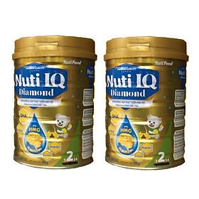 Bộ 2 Lon Sữa bột NUTI IQ Diamond số 2 cho trẻ từ 6-12 tháng - 900g