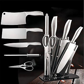 Bộ dao nhà bếp cao cấp nhật bản 5 món có kèm giá đựng dao