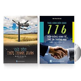 Sách- Combo gửi tôi thời Thanh Xuân song ngữ Trung việt có phiên âm MP3 nghe + 116 Hợp đồng Kinh Tế Thư Tín Thương Mại song ngữ Trung Pinyin +DVD tài liệu