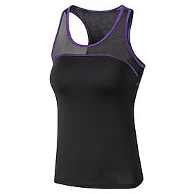 New Women Yoga Tops Sexy Gym Sportswear Vest Fitness Tight Mesh Splice Sleeveless Running shirt Quick Dry Yoga Tank Top