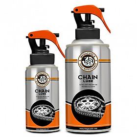 Chai xịt bảo dưỡng sên Megacools Chain Lube 300ml - dưỡng sên xích, sên trần, sên phốt cao su xe máy