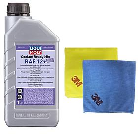 Nước làm mát chống đông pha sẵn Liqui Moly 6924 - Tặng kèm 1 khăn lau chuyên dụng 3M