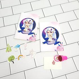 Bộ Sưu Tập Cá Tính Cung Hoàng Đạo Gồm 2 Sổ Tay Và 1 Con Dấu Tặng Kèm 6 Sticker Mini Mẫu Ngẫu Nhiên -  xử nữ