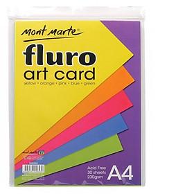 Giấy Màu Thủ Công Fluro Art Card A4