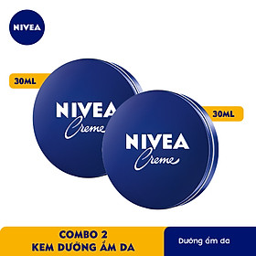 Combo 2 Kem Dưỡng Ẩm Da Crème Nivea (30ml) - 80101