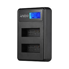 Bộ Sạc Pin USB Màn Hình LCD Andoer LCD2-LPE12 Cho Pin Máy Ảnh Canon LP-E12 Rebel SL1, EOS-M, EOS M2, EOS M10, EOS M50 EOS M100