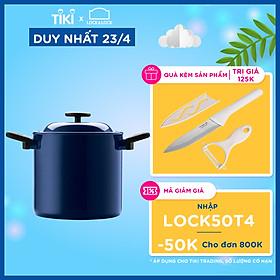 Nồi Decor Lock&Lock LDE1204IH Hai Tay Cầm (20cm) - Màu Navy