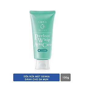Bộ sản phẩm Senka làm sạch da hỗ trợ trị mụn tiện lợi (Sữa rửa mặt hỗ trợ trị mụn Senka Perfect Whip Acne Care 100g + Khăn giấy tẩy trang 10 miếng Senka Cleansing Sheet)