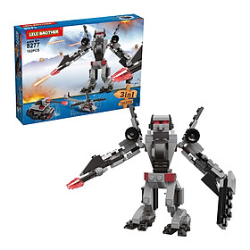 Bộ Lắp Ráp Wheeljack - Lele Brother Transformer Fighter 3in1 8277 (152 Mảnh Ghép)
