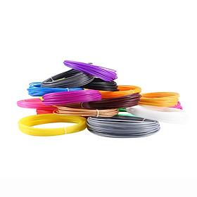 Bộ 20 màu x 10 mét sợi dây nhựa PLA cho máy in và bút vẽ 3D 1.75mm  - Hàng chính hãng