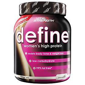 VitalStrength Define Women's high protein 1kg Vanilla