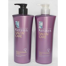 Bộ dầu gội/xả mềm mượt Kerasys Salon Care Straightening Hàn Quốc 600ml - Dành cho tóc thẳng tặng kèm móc khoá-3