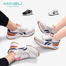 Giày Thể Thao Sneaker Cặp Đôi Nam Nữ MINSU Classic M3302, Giày Bata Hàn Quốc Nam Nữ Mix Đồ Đi Học, Chơi, Du Lịch Cực Đẹp