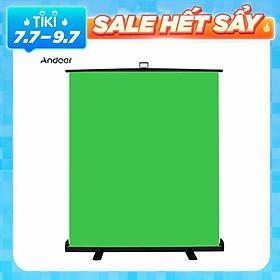 Andoer Phông nền chụp ảnh Cromakey có thể co giãn 1.5 * 2m Phong cách kéo lên Phông nền màn hình xanh chống nhăn