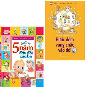 Combo nhật ký 5 năm đầu đời của bé+bước đệm vững chắc vào đời (bản đặc biệt tặng kèm bookmark AHA)