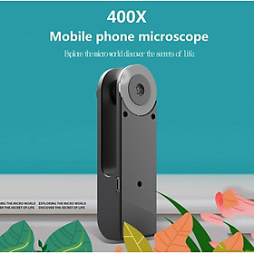 Mobile Phone Universal Microscope Hd Camera Supplementary Light Small Mini 400X Camera Lens