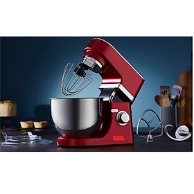 máy nhào bột máy trộn bột đánh bột đánh trứng kem model  Anh quốc 5L 800W màu đỏ