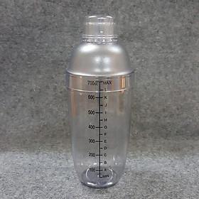 Bình lắc pha chế Shaker Cocktail 700ml vạch chia in đậm