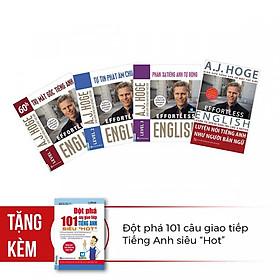 """Combo Bộ 4 Cuốn Effortless English - Học Tiếng Anh Như Người Bản Ngữ Cùng Aj Hoge ( Tặng Kèm Đột Phá 101 Câu Giao Tiếp Tiếng Anh Siêu """"Hot"""" )"""