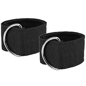 2pcs Fitness Padded Ankle Straps for Cable Machines Adjustable Ankle Cuffs Glute Leg Workout