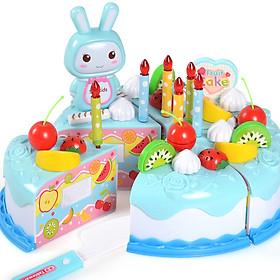 Đồ chơi bánh kem sinh nhật cao cấp 37 chi tiết bằng nhựa ABS nguyên sinh an toàn làm quà tặng sinh nhật cho bé yêu – DC031