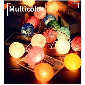 Đèn Led dây Bóng tròn nhiều màu sắc, tùy chọn đa năng: USB+Pin tích hợp, trang trí Lễ Tết, phòng khách, quán cafe, dã ngoại, đường kính 6cm