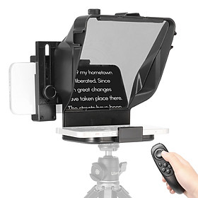 Ulanzi PT-15 Smartphone DSLR Camera Universal Teleprompter Prompter with Phone Holder Remote Control 5pcs Lens Adapter