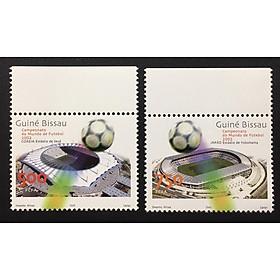 TEM SƯU TẦM Giải vô địch bóng đá World Cup Guinea-Bissau năm 2002 2 con