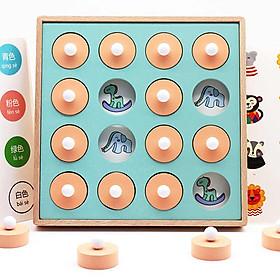 Đồ chơi gỗ Tìm cặp giống nhau gỗ- Rèn luyện kỹ năng quan sát, trí nhớ, tinh mắt