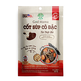 Cốt súp cô đặc - Từ Thịt Bò - Nấu nước dùng bò tiện lợi - Túi 35gr - Số 1 tại Mỹ - Tiêu chuẩn FDA - Tiện lợi cho bữa ăn gia đình - An toàn cho sức khỏe