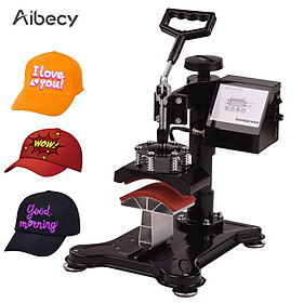 Aibecy 5.5x3 Inch Swing Away Combo Digital Hat Cap Heat Press Thermal Transfer Machine