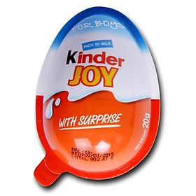 Lốc 24 quả Trứng Chocolate Kinder Joy For Boys 20gr (Kèm đồ chơi bé trai)