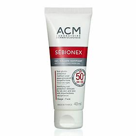 Gel chống nắng dưỡng da cho da mụn ACM Sebionex Mattifying Sunscreen Gel SPF 50+