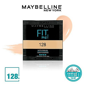 Kem nền MAYBELLINE FIT ME dạng sachet 1.5ml 128 Warm Nude