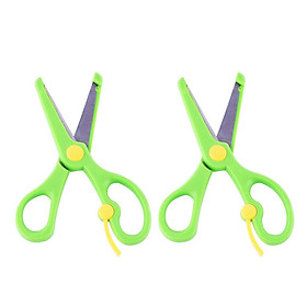 2pcs Kids Left & Right Handed Scissors Craft Paper Cutting Safety Tool