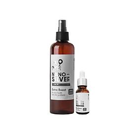 COMBO 2 Chai Nano Bạc tinh khiết làm sạch da từ bên trong ngừa mụn, kháng viêm,giảm thâm, mờ sẹo ( Chai 250ML+ 15ML)