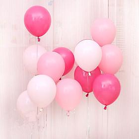 30 bong bóng trang trí tông màu hồng