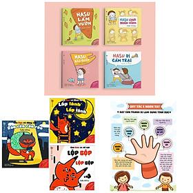 Combo Ehon Nhật Bản : Những Điều Kỳ Diệu Của Âm Thanh + Những Câu Chuyện Kỳ Lạ Của Hasu + Poster An Toàn Cho Con Yêu Quy Tắc 5 Ngón Tay (Bộ Sách Nuôi Dưỡng Tâm Hồn Cho Bé 0 - 6 Tuổi)