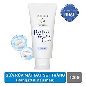 Sữa Rửa Mặt Tạo Bọt Chiết Xuất Đất Sét Trắng Senka Perfect White Clay New 14840 (120g)