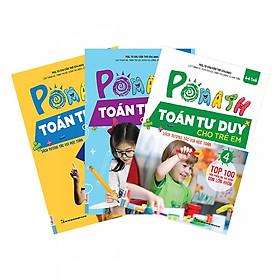 Combo 3 Cuốn Pomath Toán Tư Duy Cho Trẻ Em (Tập 4,5,6) tặng kèm bookmark