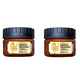 Siaonvr 2PC Hair Detoxifying Hair Mask Advanced Molecular Hair Roots Treatmen Recover