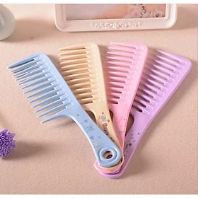Combo 2 Lược chải tóc răng thưa chăm sóc da đầu (màu ngẫu nhiên)