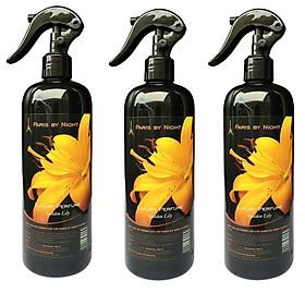 Bộ 3 chai xịt phòng tinh dầu Nước hoa cao cấp Paris 500ml khử mùi thuốc lá, ẩm mốc, hạn chế ruồi muỗi