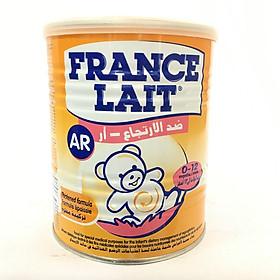Sữa France lait AR 400 Gr : Dùng cho trẻ độ tuổi 0 - 12 tháng tuổi , bị nôn trớ và đầy bụng khi ăn