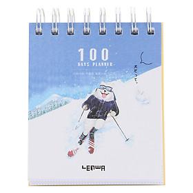 Sổ Kế Hoạch Lò Xo 100 Ngày - 100 Days Daily Planner Notebooks - Thể Thao 1 (10.6 x 12.4 cm)