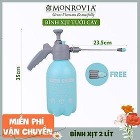 Bình xịt tưới cây MONROVIA 2 lít, phun sương tưới cây cảnh, vòi dài, tặng vòi ngắn, màu xanh, tiêu chuẩn Châu Âu