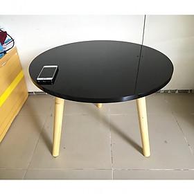 Bàn trà, bàn sofa tròn đen 60x45, bàn cafe phòng khách, bàn coffee, bàn gỗ cà phê