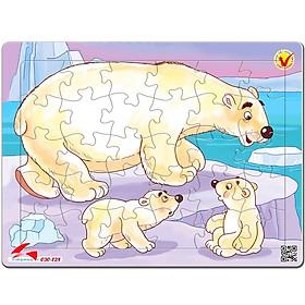 Tranh Xếp Hình A4 30 Mảnh - Gấu Bắc Cực 030-128