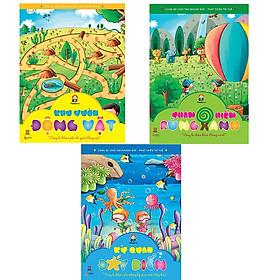 Bộ 3 cuốn sách Cùng bé chơi tìm nhanh mắt - Phát triển trí tuệ